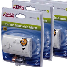3 x Kidde Carbon Monoxide Alarms Detector 10 Year Warranty