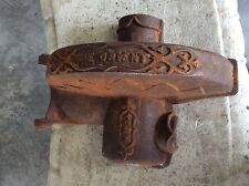 vintage cast metal cog cover for tractor/plough - the orient