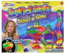 Grafix Sand Art Glitter N Glow Make Your Own Childrens Activity Craft Kit