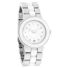 Movado Cerena Ladies White Ceramic Diamond Swiss Quartz Watch 0606540