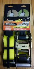 """NEW KEEPER TIE DOWN RATCHET STRAP 8 FT 2000 LBS 2"""" WIDE KEEPER RATCHET STRAP NEW"""