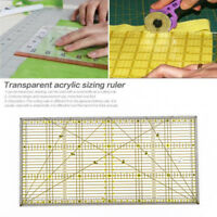 Clear Acrylic Quilting Grid Ruler Patchwork Tailor Sewing Cutting Ruler Tool