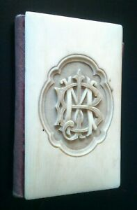 """Victorian needle case with carved initials """" BM """""""