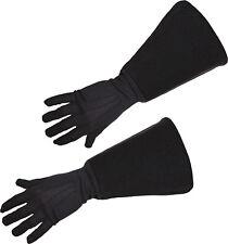 Musketier Handschuhe schwarz NEU - Zubehör Accessoire Karneval Fasching