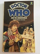 Dr Doctor Who & THE UNDERWORLD Terrance DICKS Book TARGET 1980 FREE POST