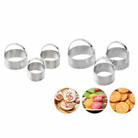 3pcs/set Fancy Scallop  Cookie Biscuit Pastry Cutter Set Of Stainless Steel new.