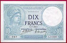10 francs MINERVE 05.07.1923 SPL
