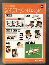 EasyJet Airlines safety card airbus A319 A320