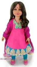 Diya Indian Doll in Anarkali Dress, Salwar Pants, Shoes, Earrings and Bindi, NEW