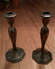 pair of vintage Wallace silver candlesticks 5510 Candle sticks Collectible Rare