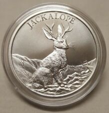 1oz Jackalope .999 Fine Silver Round Coin Wyoming Folklore The Warrior Rabbit