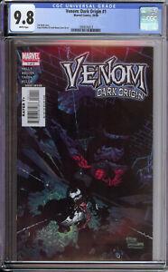 Venom Dark Origins 1 CGC 9.8 Carnage Movie Angel Medina Amazing Spiderman