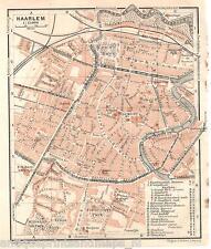 Antique map Haarlem plattegrond carte 1914