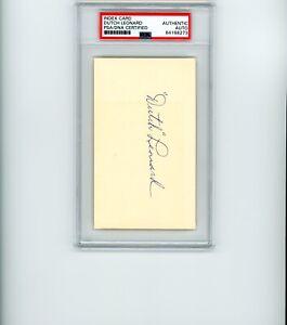 DUTCH LEONARD SIGNED 3x5 INDEX CARD PSA/DNA SLABBED AUTOGRAPHED CHICAGO CUBS