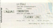 RARE / TICKET BILLET DE CONCERT - TINDERSTICKS : LIVE A PARIS ( FRANCE ) 1997