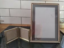 2 pair of vintage metal 40s 50s 60s picture photo frame stand alone fold