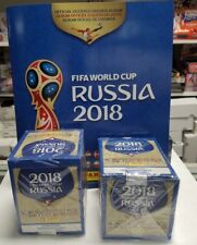 (2) 2018 Panini FIFA World Cup Sticker Boxes & FREE Album Russia