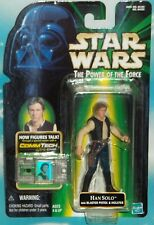 STAR WARS POTF SERIES RED ORANGE CARD ORIGINAL TATOOINE SMUGGLER HAN SOLO FIGURE