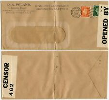 GB WW2 CENSORED PERFIN PF + Co 4 OCT 1939 D.A POLAND + PRICE FORBES WINDOW ENV