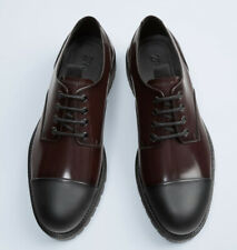 ZARA Mens Burgundy Leather Track Sole Shoes