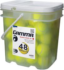 Gamma Pressureless Tennis Ball Bucket| Case w/48 Practice Balls| Sturdy/Reusable