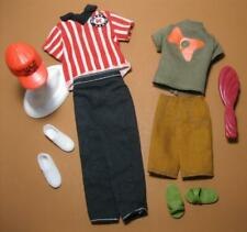 KEN Barbie Doll OUTFIT Fashion Clothes/Shoes Monogram K New Kid Hat Slide Sandal