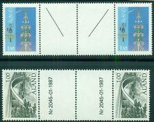 ALAND Facit 10v1 & 24v1, Gutter Pairs w/listed varieties, og, NH, VF