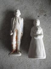 "Antique Bisque George and Martha Washington Figurines 4 1/4"" Tall"