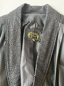 Vintage Leather Jacket Made In Australia, 80 - 90's Leopard Size 10 Or 12