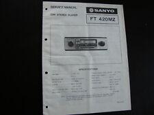 Original  Service Manual Sanyo FT 420MZ