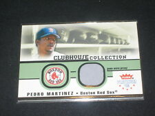 Pedro Martinez Red Sox Legend Certified Authentic Baseball Game Used Jersey Card