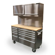 """432 US PRO TOOL CHEST BOX WORKBENCH STAINLESS STEEL 55"""" ! FINANCE AVAILABLE !"""