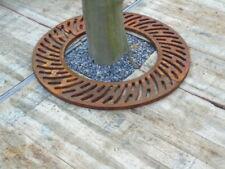 plaque de sol ,grille de contour d arbre en fonte ronde , nouveau !
