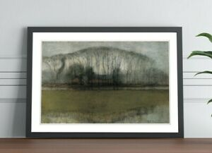 Piet Mondrian Line of Trees Marsh FRAMED WALL ART POSTER PICTURE PRINT 4 SIZES