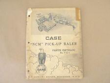 "Vintage Service Parts Catalog F211 Case ""NCM"" Pick Up Baler 1950"