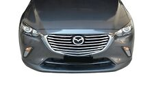 Chrome Front Mesh Grill Hood Bonnet Garnish Cover for Mazda CX-3 15-18
