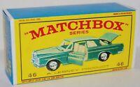 Matchbox Lesney No 46 Mercedes 300 Se Coupe empty Repro  Box  style E