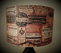 Halloween Lampshade,light shade,Newspaper,Gothic , industrial ,Free Gift