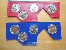 2013 P & D Presidential Dollar 8 Coin Set Lot Sealed Uncirculated Mint Cello