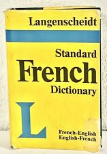 LANGENSCHEIDT'S STANDARD FRENCH DICTIONARY: French-English, English-French