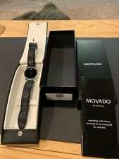 Movado Men's 0604230 'Museum' Black Watch - Tourneau Teju Lizard Band No Reserve