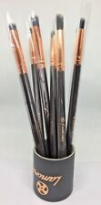 MakeUp Eye Brushes 7Piece Set Eyeshadow Eyeliner Blending Crease Kit by Lamora