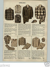 1956 PAPER AD Woolrich Wool Hunting Shirt Scarlet Hunting Plaid Ensolite