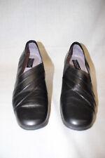 """BEAUTIFEEL Black Leather""""Fan""""Pumps,Anti Slip Sole Womens Size US10/42 Israel-B13"""