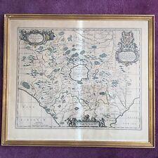 Johannes Janssonius Carte ITALIE 1670-1700 Ducatus Bracciani ETCHING Map 18thC