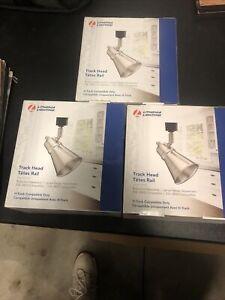 (3) Lithonia Lighting Brushed Nickel Ceiling Track Lights LTHBRSD BR20 BN M4