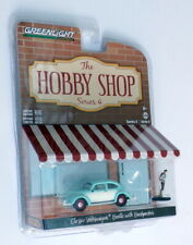Greenlight 1/64 Scale 97040-F - Classic VW Beetle & Backpacker - Blue/White