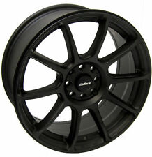 "ALLOY WHEELS X 4 17"" BLACK NEO FITS AUDI 80 90 100 FORD MAZDA 121 2 VOLVO 4x108"