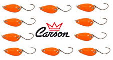 10 ondulanti 3g arancione trout area game spoon pesca trota lago fiume spinning