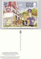 1994 20p POSTMAN PAT VISITS ISLE OF MAN UNUSED COLOUR POSTCARD